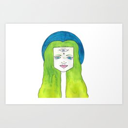 third eye moon Art Print