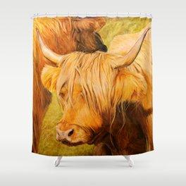 Highland Cows. Shower Curtain