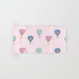 Sweet balloon dreams - pink Hand & Bath Towel