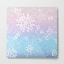 Flakes of snow Metal Print