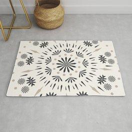 Snowflakes Scandic Nordic Rug