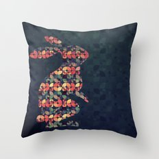 The Pattern Rabbit Throw Pillow