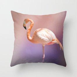 The Flamingo 2 Throw Pillow