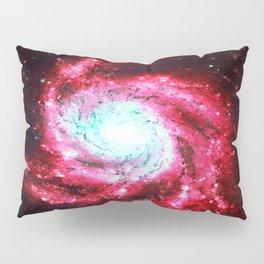 Spiral Galaxy Red Aqua Pillow Sham