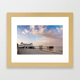 Penath Pier at sunset Framed Art Print