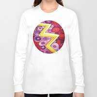 lightning Long Sleeve T-shirts featuring Lightning by DuckyB