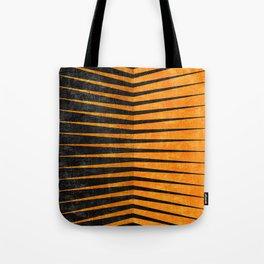 Yellow / Black - Geometric Tote Bag