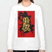 kaiju Long Sleeve T-shirts featuring Kaiju Explosion by PCRK