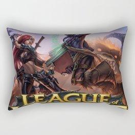 Legends Attack Rectangular Pillow