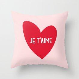 Je T'aime Throw Pillow