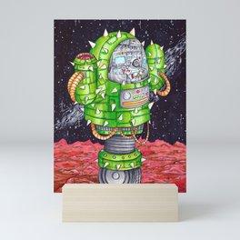 Space Cactus Mini Art Print