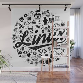 Linux - Collage Graphic Wall Mural