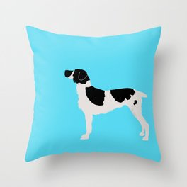 English Springer Spaniel Dog in Black and white color Throw Pillow