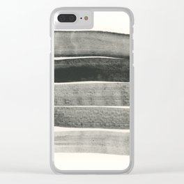 Abstract Line No. 67 black and white Clear iPhone Case