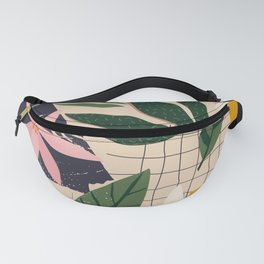 Palm Collage Fanny Pack