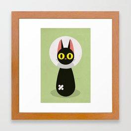 Bandage Cat Framed Art Print