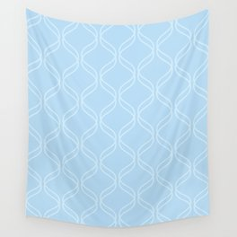 Double Helix - Light Blues #100 Wall Tapestry