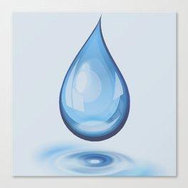 Water Drop Art Canvas Print