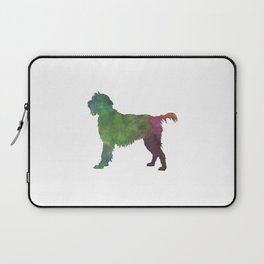 Wirehaired Pointing Griffon Korthals in watercolor Laptop Sleeve