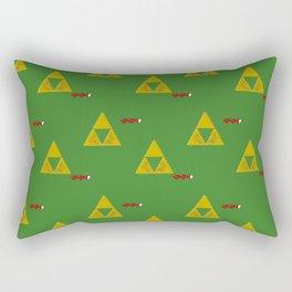 Triforce/Hearts/Links Eyes Retro Pixel Rectangular Pillow
