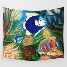 Magnificent sight sea world | Vue magnifique des bas fonds Wall Tapestry