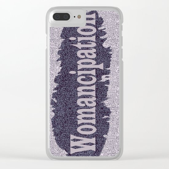Womancipation Clear iPhone Case