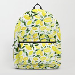 So luscious lemons || watercolor Backpack