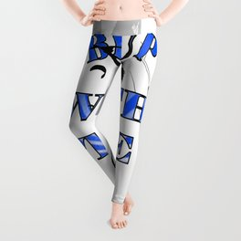 Be Up With The Boards Text And Kitesurfer Vector Leggings