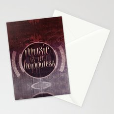 music is my happiness | music theme Stationery Cards