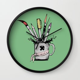 Ink cup Wall Clock