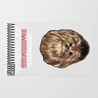 chewbacca Area & Throw Rugs featuring Chewbacca SW Poster by Florian Rodarte