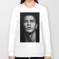 james franco Long Sleeve T-shirts featuring James Franco by Emma Porter