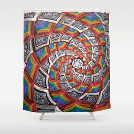 Tunnel To The Moon Shower Curtain
