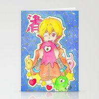 iwatobi Stationery Cards featuring Astronaut Nagisa by Lilolilosa