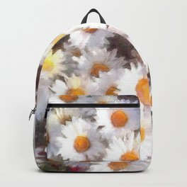 Spring Daisy Wildflower Watercolor Backpack