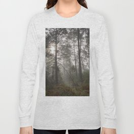 Calm morning... Into the foggy woods Long Sleeve T-shirt