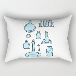 Potions Bottles Design — Apothecary Glass Jars Illustration Rectangular Pillow