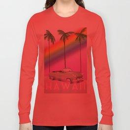 hawaiian rainbow travel poster print. Long Sleeve T-shirt