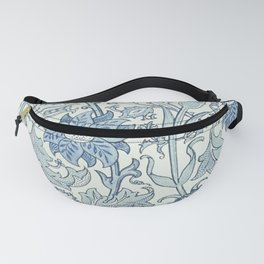 William Morris Beautiful floral pattern, blue,rose,william Morris pattern, art nouveau pattern Fanny Pack