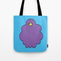 lumpy space princess Tote Bags featuring Lumpy Space Princess by SBTee's