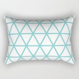 Aqua Triangle Pattern 2 Rectangular Pillow