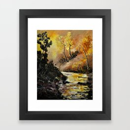 river in autumn Framed Art Print