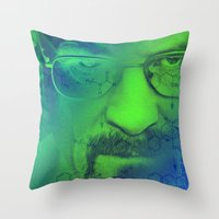 breaking bad Throw Pillows featuring Breaking Bad by Scar Design