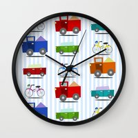 cars Wall Clocks featuring Cars by Alapapaju