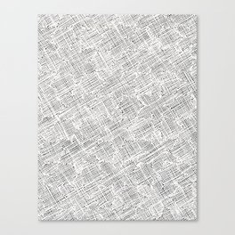 Ink Weaves: White Alabaster Canvas Print