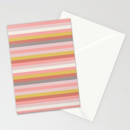 Adelaide Modern Riviera Stripe in Coral - Stationery Cards