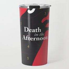 Ernest Hemingway book cover & Poster, Death in the Afternoon, bullfighting stories Travel Mug