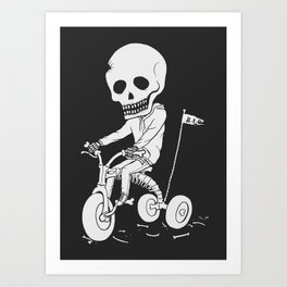 Death Kid Bone Ride Art Print