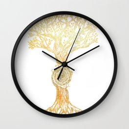Swirl Tree Wall Clock