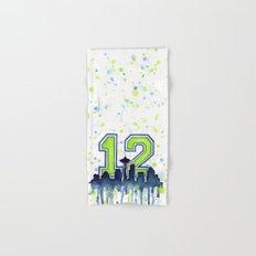Hawks 12th Man Fan Art Hand & Bath Towel